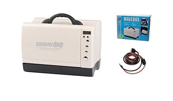 DC - Horno microondas para camping, 24 V, color blanco: Amazon.es: Coche y moto