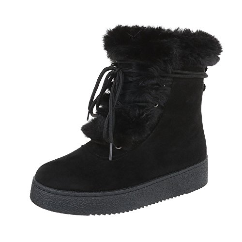 Women's Boots Flat Classic Ankle Boots at Ital-Design Black Z9E4Xi