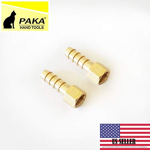 "2 PCS 5/16"" Hose Barb 1/8"" Female NPT Brass Pipe Fitting NPT Thread Gas Fuel Water"