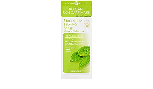 Amazon.com : Beyond Belief Korean Skin Care Green Tea Essence Mask : Beauty