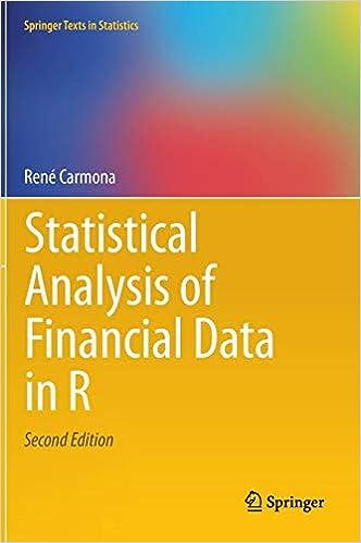 Statistical Analysis of Financial Data in R: René Carmona