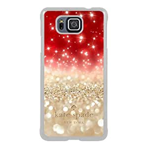 customized Samsung Galaxy Alpha Case Cover, Fashion Stylish DIY Kate Spade 101 White Case Cover For Samsung Galaxy Alpha