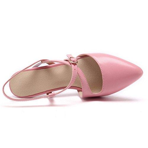 Tacco Pink Scarpe con Donna Cinturino TAOFFEN wxqCpI6X