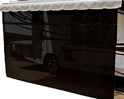 EasyShade RV Awning Sun Shade Panels Sun Blockers Awning Shade Cloth Black 19ft x 6ft Drop