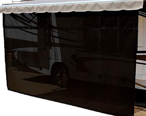 Windshield Sun Shade >> EasyShade RV Awning Sun Shade Panels Sun Blockers Awning Shade Cloth Black 18ft x 6ft drop