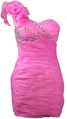 ANTS Women's One Shoulder Cocktail Dresses Short Party Dress Size 22W US Pink