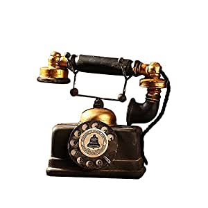 AMAZING DEAL Desktop Ornaments Retro Telephone Models Photography Prop Window Decoration