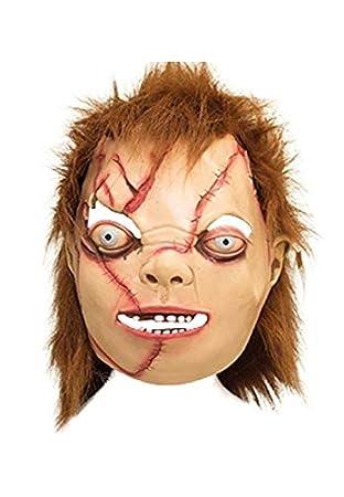 Lote/Conjunto de 3 Piezas - Máscara de látex Chucky: Amazon.es: Juguetes y juegos