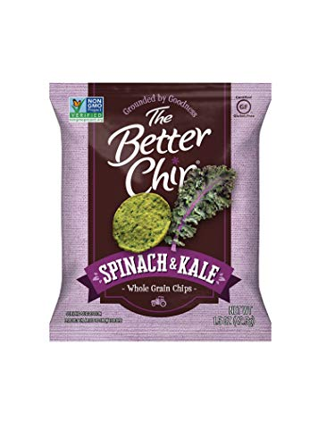 The Better Chip Whole Grain Chips, Spinach & Kale, 1.5 Ounce (Pack of 27) (Best Whole Grain Chips)