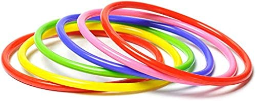Assorted Colors Will Be Sent Blue Purple Yellow Red Olympic Colourful Indoor Outdoor Fitness Gymnastic Hoops Ease-n-Comfort Hula Hoop