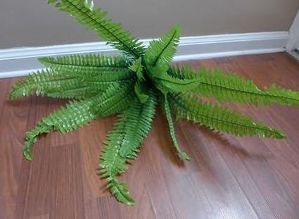 Plantas artificiales Boston hierba arbustos de hoja de helecho restaurante decoración para salón decoración para el