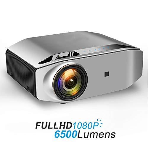 WENMHUI Mini Projector, 1080p Full HD Projektor, 6500 Lumen LED Projektor 1920x1080P 3D Video Wireless WiFi Multi-Screen…