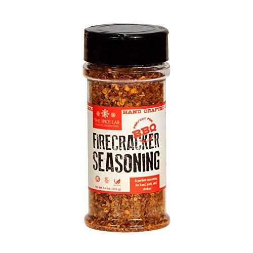 The Spice Lab No. 13 - Firecracker Spicy Steak Seasoning Rub Blend - 5.4oz. Shaker Jar