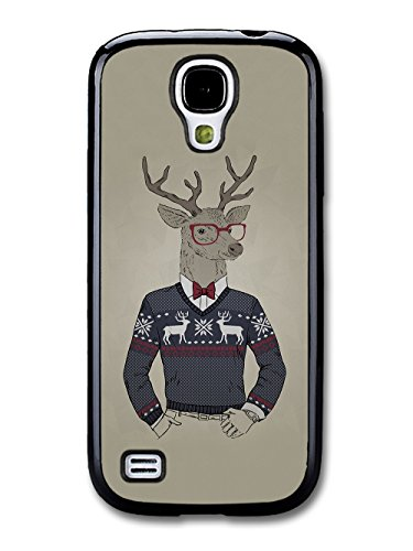 Funny Cute Deer in Christmas Jumper Looking Cool coque pour Samsung Galaxy S4 mini