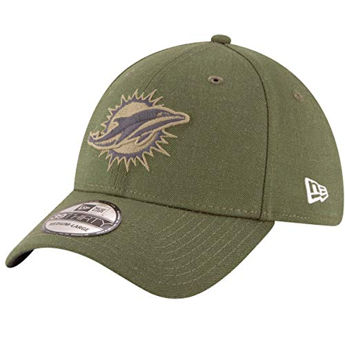 New Era Miami Dolphins NFL 39THIRTY 2018 Sideline Salute to Service Hat