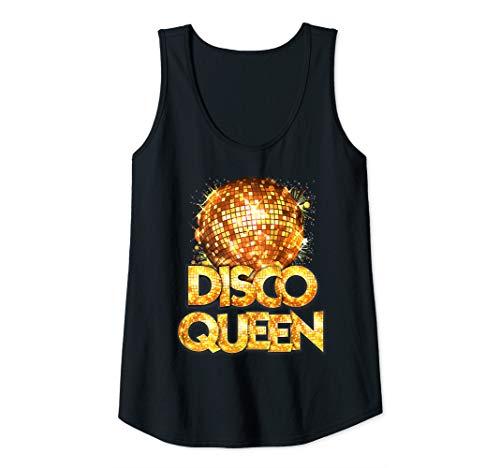 Womens Disco Queen - 70's Disco Themed Vintage Seventies Costume Tank ()