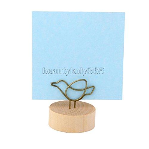 Bird Shape Design Memo Holder Paper Note Holder Photo Clip Desk Decoration (Wicker Bookshelves)