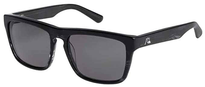 Quiksilver - Gafas de sol - para hombre Shiny Blk Havana/Gry ...