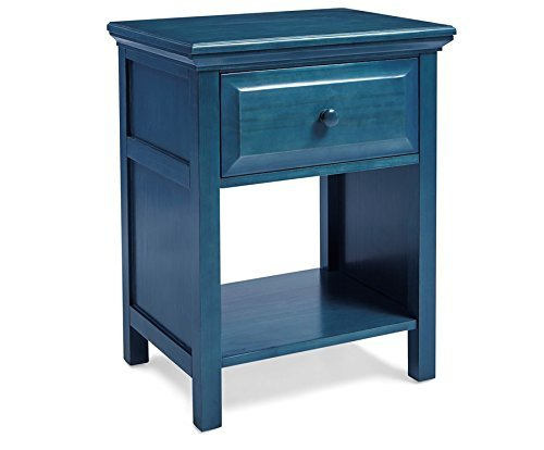 Mantua Cottage Style Wedgewood Blue Nightstand, Perfect for Seaside and Country Dcor, Can be Used as a Nightstand or End Table