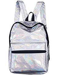 Babyprice Sliver Rainbow Hologram Backpack Holographic School Travel Bag