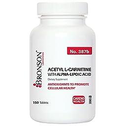 Bronson Labs: Acetyl L-carnitine 500 Mg with ALA 200 Mg