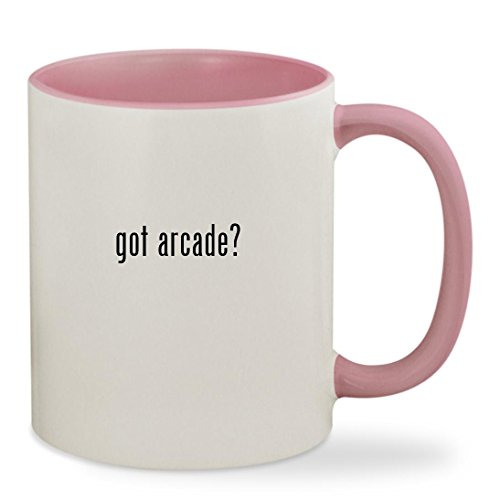 got arcade? - 11oz Colored Inside & Handle Sturdy Ceramic Coffee Cup Mug, Pink