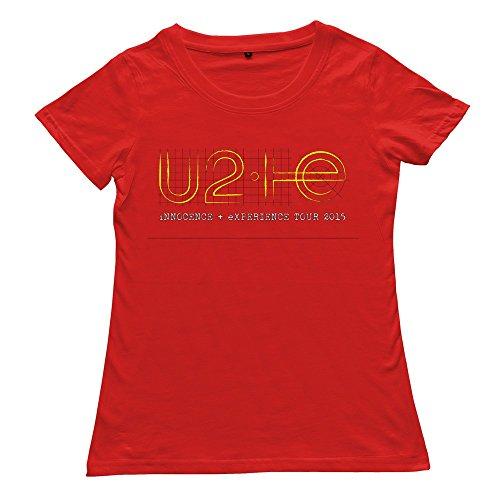 Goldfish Women's Style Short Sleeve U2 T-Shirt Red US Size -