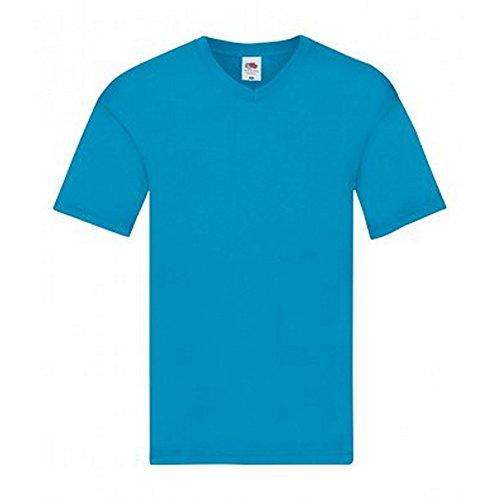 Of The V Loom T Col shirt Homme Azur Bleu Original Fruit Odq5O