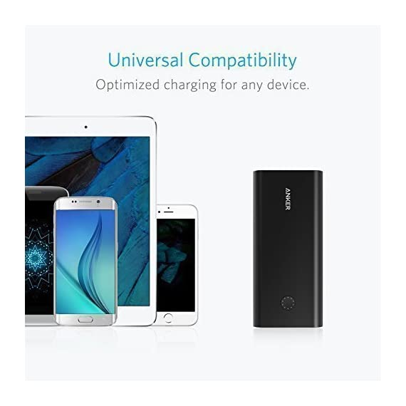 Anker PowerCore+ 26800, Premium Portable Charger, High Capacity 26800mAh External Battery with Qualcomm Quick Charge 3.0… 8 The Anker Advantage: Join the 50 million+ powered by America's leading USB charging brand. Qualcomm Quick Charge 3.0: Using Qualcomm's advanced Quick Charge 3.0 technology, PowerCore+ allows compatible devices to charge 85% faster. Recharges itself 2X as fast with the included wall charger. Fast-Charging Technology: Exclusive to Anker, PowerIQ and VoltageBoost technologies combine to provide universal full speed charging for non-Quick Charge devices, up to 3 amps per port.