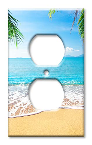 Art Plates Duplex Outlet Cover Wall Plate - View from the Sand on Beach
