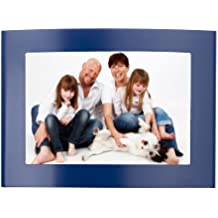 """Displays2go Metal Picture Frame for Tabletop Display Curved Design (Set of 12), 4 by 6"""", Blue"""