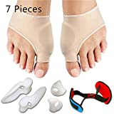 Thumb Valgus Correction Set, Toe Separator, Silicone Aligner Set, Bunion Corrector, Bunion Protector, for Men & Women