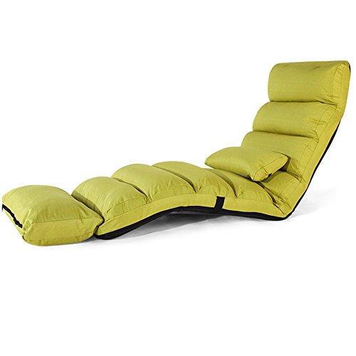 Sillas ZHIRONG Alargue Sofá Sofá Lounge Sofá Cama Plegable Tumbona de Piso Ajustable Sleeper Futon de Asiento de Colchón...