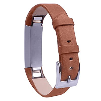 GHIJKL Leather Bands for Fitbit Alta Replacement Wristband Bracelets/ Wireless Activity Tracker Accessories Wrist Strap