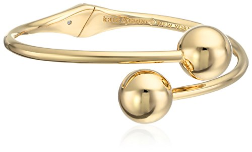 kate spade new york Bauble Open Hinged Gold Cuff (Contemporary Cuff Bracelet)