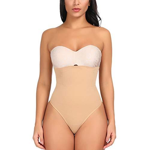 (Women High Waist Waist Cincher Girdle Tummy Slimmer Sexy Panty Shapewear Thong Sport)