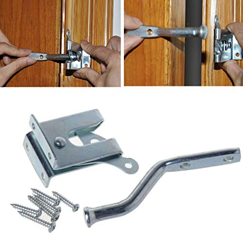 Rail Lock Guard (Galvanized Steel self-Locking Bolt Lock self-Locking Automatic Gravity Lever guardrail Lock, 4-1/8