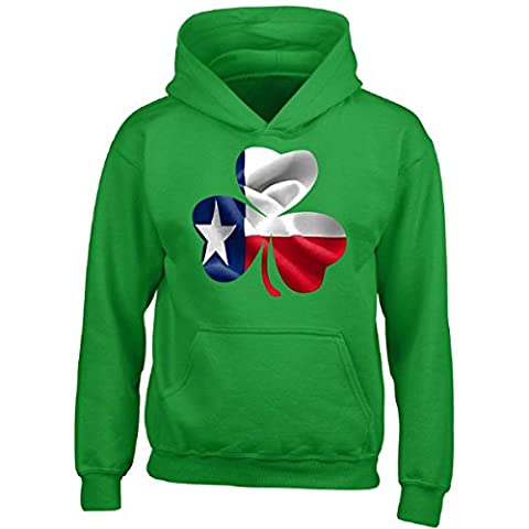 Texas Clover St Patricks Day Texan Irish - Boys Hoodie Kids M Irish-green (Hoodies Texas)