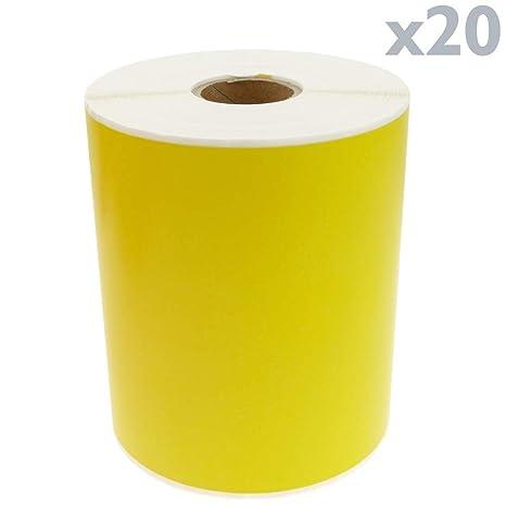 BeMatik - Rollo Bobina de 250 Etiquetas Adhesivas para ...