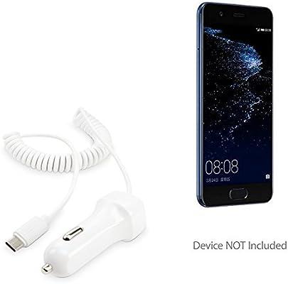 Huawei P10 de batería, BoxWave® [Cargador de coche Plus] Cargador de coche y integrado Cable para Huawei P10