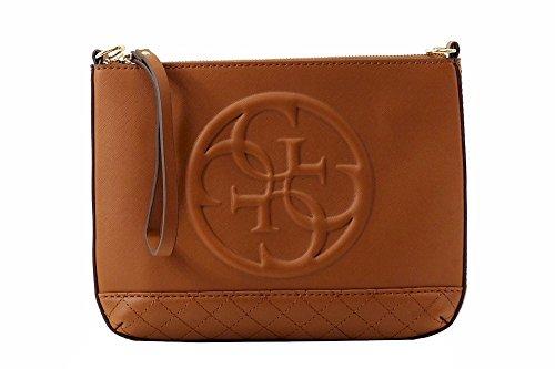 Guess Women's Korry Mini Cognac Convertible Crossbody Clutch Handbag - Handbag Clutch Convertible