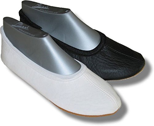 Beck - Zapatillas de gimnasia de Piel para mujer Blanco blanco Blanco - negro