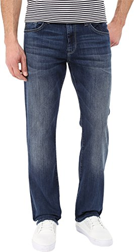 Mavi Men's Matt Classic Mid-Rise Relaxed Straight-Leg Jeans, Mid Indigo Cooper, 34W x 32L