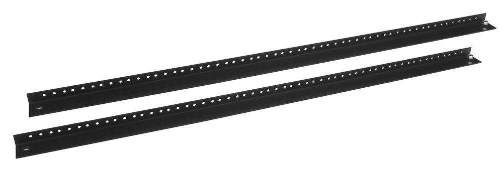 Hubbell HWK241224 QUADCAB Network Cabinet Accessories, Mounting Rail Kit, 12-24 Thread, 2' Long