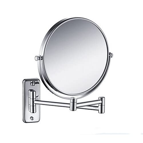 good 8inch Double Side Cosmetic Mirror 3x Magnification Makeup Mirror Wall Mounted
