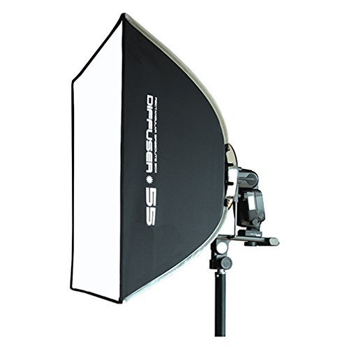 XP Photogear Speedbox Diffuser 55 Professional 18-Inch Rigid Quick Folding Softbox for Speedlight Flash by XP Photogear