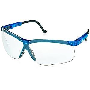 Uvex S3240X Genesis Safety Eyewear, Vapor Blue Frame, Clear UV Extreme Anti-Fog Lens