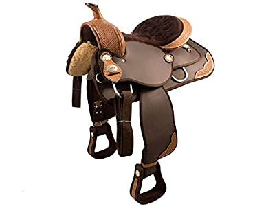 Tahoe Tack Basket Weave Synthetic Western Horse Saddle At Wholesale Price