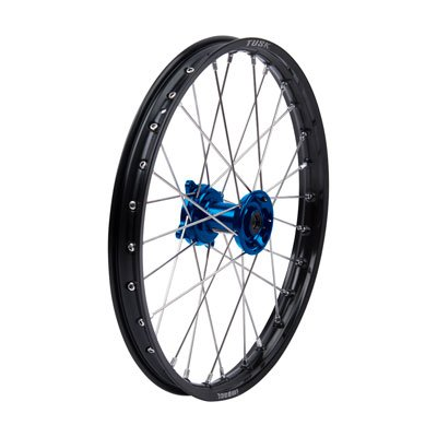 Impact Complete Wheel - Front 19 x 1.40 Black Rim/Silver Spoke/Blue Hub for Suzuki RM80 1996-2001 by Tusk Racing