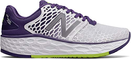 New Balance Women's Vongo V3 Fresh Foam Running Shoe White/Purple 8.5 D US